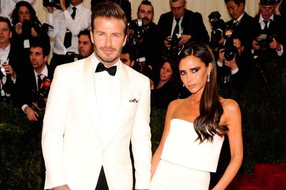 David y Victoria Beckham en la gala anual del Metropolitan (Foto:...