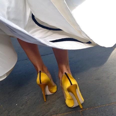 Zapatos de la colección de Sarah Jessica Parker que vistió en la...