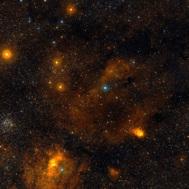 Panorama en el óptico de las nubes de Cefeo