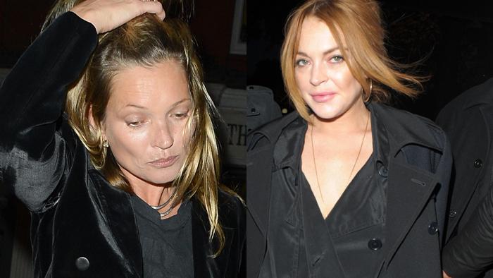 Kate Moss y Lindsay Lohan, en una imagen reciente.