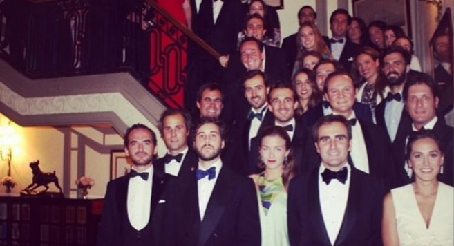 Los invitados a la cena de homenaje a Juan Carlos I a la que acudieron...