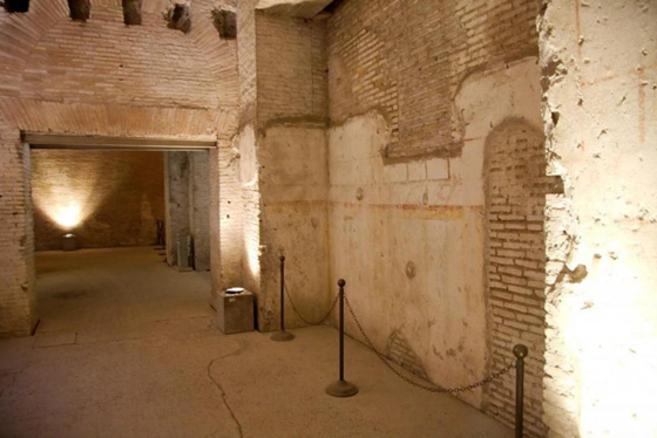 Parte de la Domus Aurea en Roma