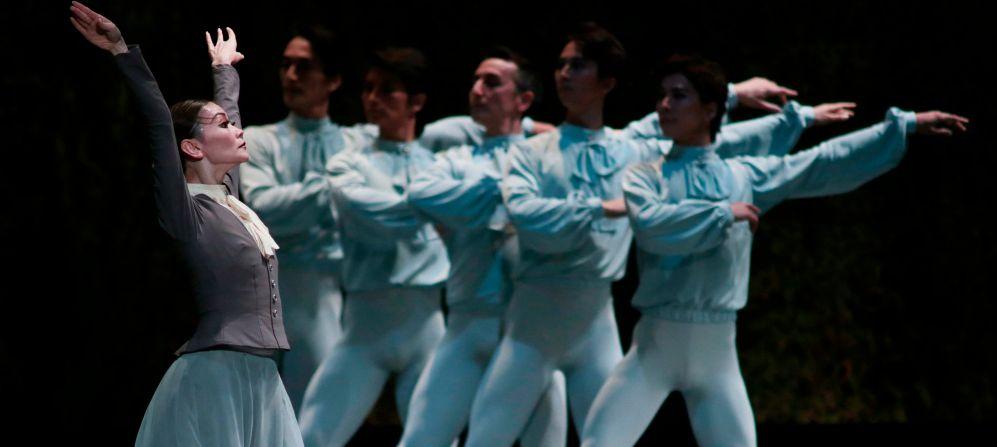 Un momento del espectáculo del Asami Maki Ballet Tokyo en Granada.