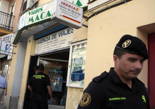 Sede de la empresa Viajes Macarena, en Sevilla, registrada este martes...