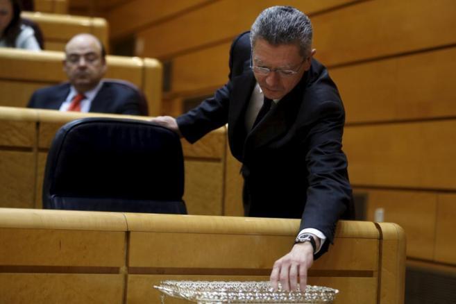 Alberto Ruiz-Gallardón, en el Senado.