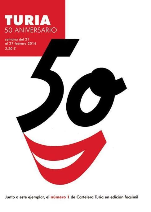 Portada del 50 aniversario de Cartelera Turia.