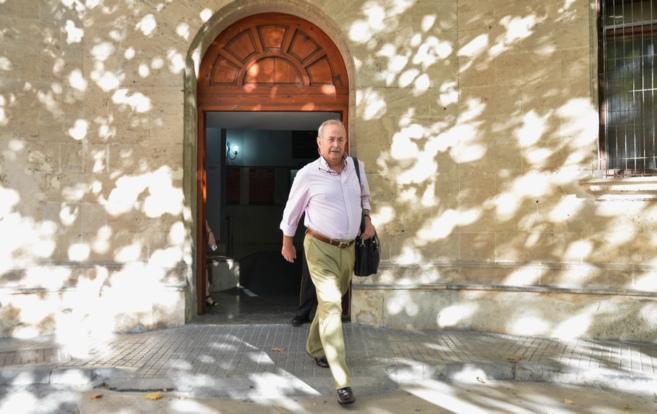 El magistrado José Castro, a la salida de los juzgados de Palma de...