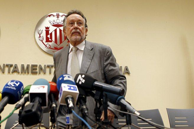 El vicealcalde de Valencia, Alfonso Grau, durante un comparecencia.