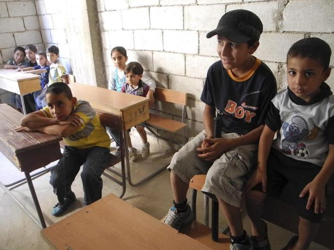 Niños sirios en una escuela de Deir Ezzor, en el noreste del país