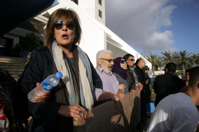 La abogada y activista política Salwa Bughaigis.