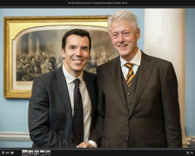 Carlos Mulas, con el ex presidente de EEUU Bill Clinton, en 2012.