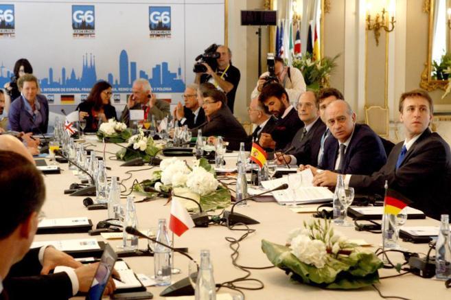 El ministro del Interior, Jorge Fernández Díaz, en la reunión del...