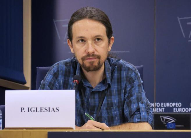 El líder de Podemos, Pablo Iglesias, este jueves en Bruselas.