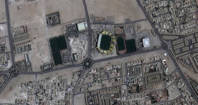 Doha, la capital de Qatar, captada desde el espacio por Deimos-2.