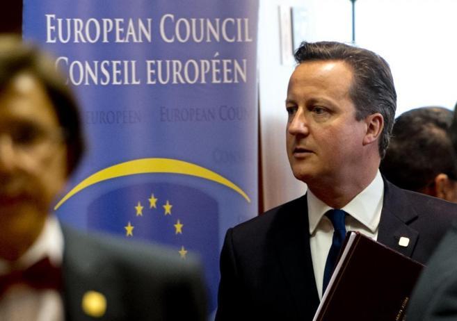 El 'premier' David Cameron, a su llegada al Consejo Europeo.