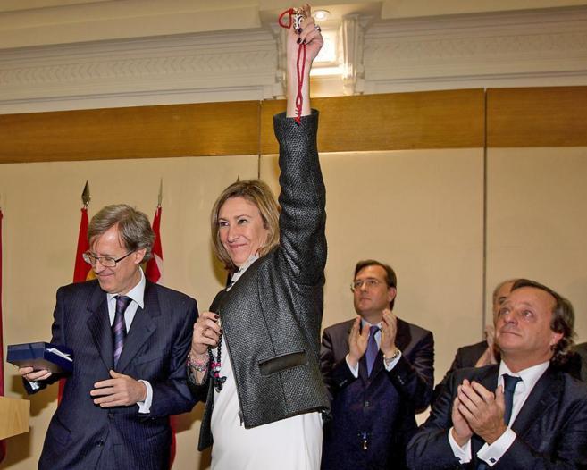 Sonia Gumper el día de su victoria en las elecciones.