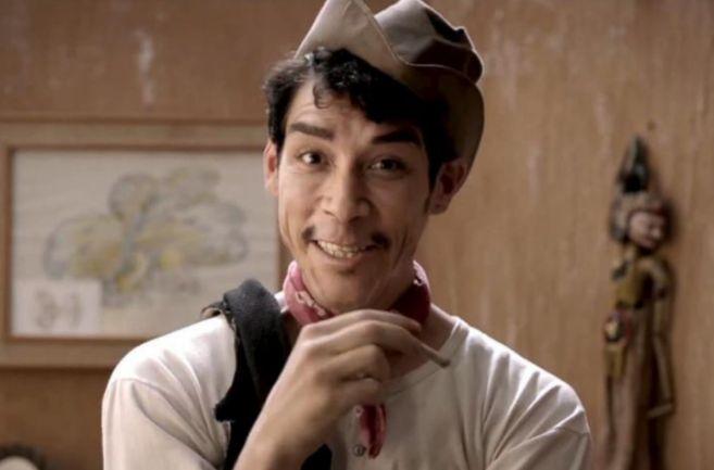 Óscar Jaenada caracterizado como Cantinflas en la película sobre el...
