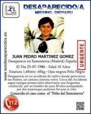 Cartel que denuncia la desaparición.