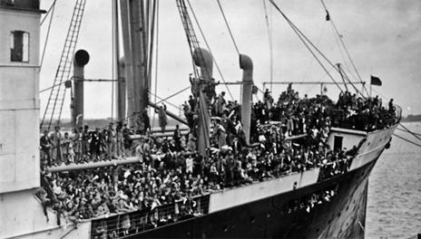 El barco británico SSHabana, que en 1937 llevó a los niños...