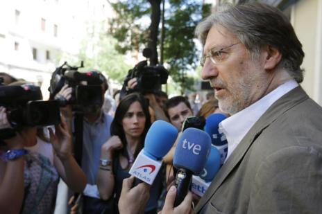 José Antonio Pérez Tapias, tras su proclamación como candidato.