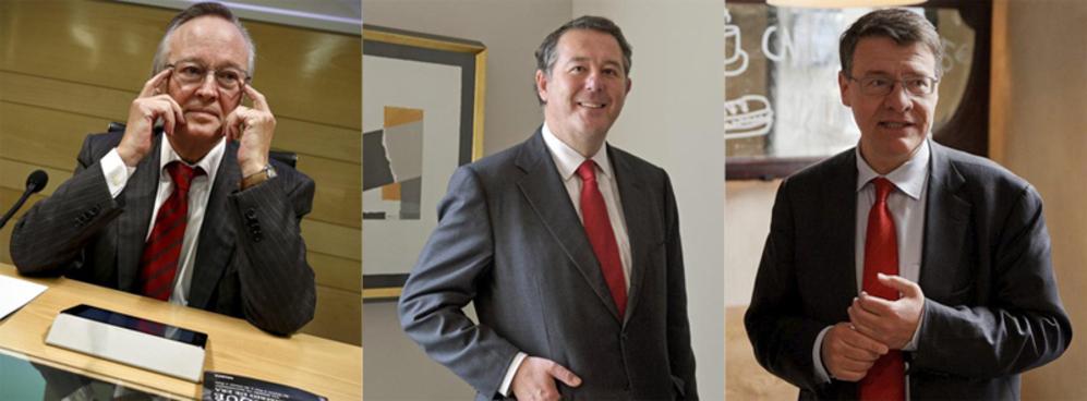 Los ex ministros Piqué, Michavila y Sevilla.