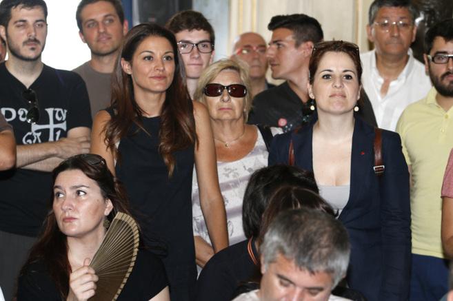 Las diputadas Mireia Mollà (Compromís) y Esther Barceló (EU),...