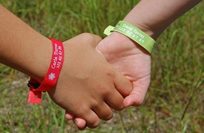 8b01a150a141 Una pulsera personalizada por si el niño se pierde en la playa ...