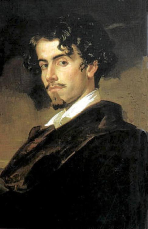 Gustavo Adolfo Bécquer retratado por su hermano Valeriano en 1862