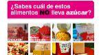Un cartel con varias fotos de alimentos pregunta: '¿Sabes cuál de...
