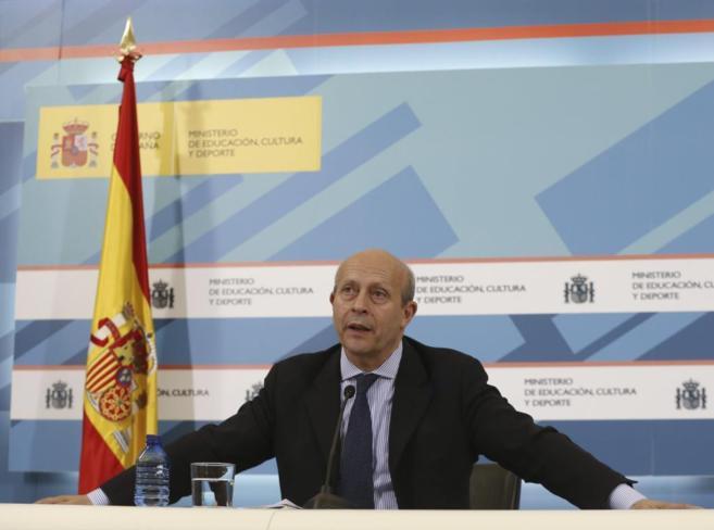 José Ignacio Wert durante la  Conferencia Sectorial de Educación, el...