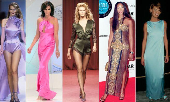 De izquierda a derecha: Claudia Schiffer, Cindy Crawford, Elle...
