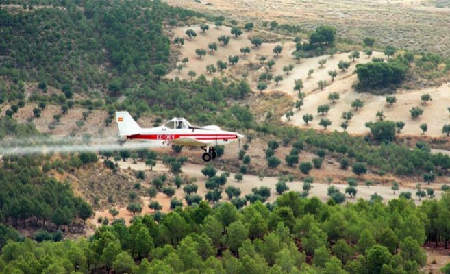 Una avioneta utilizada para fumigar.
