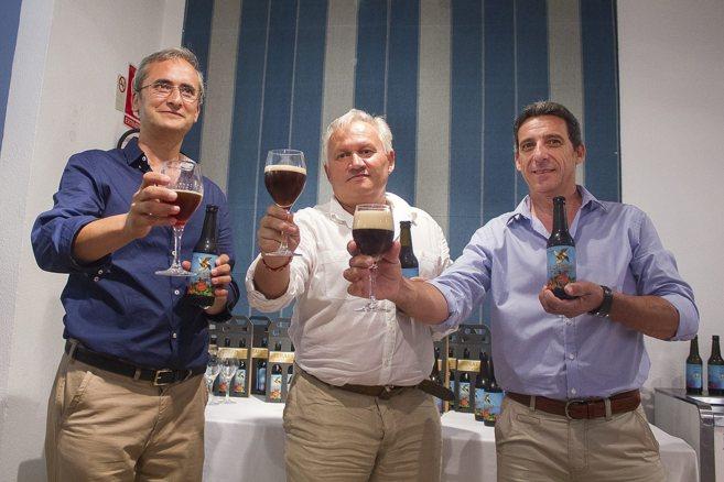 José Manuel Quetal, Manuel Comino y Cristóbal Pérez, fundadores de...