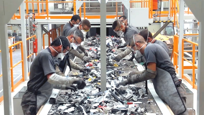Imagen de la planta de Ewaste en Canarias.