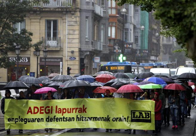 La manifestación que ha recorrido este miércoles las calles de San...