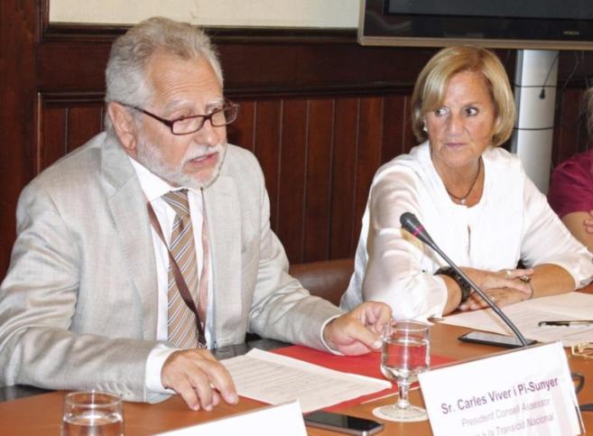 El presidente del Consejo Asesor para la Transición Nacional, Carles...