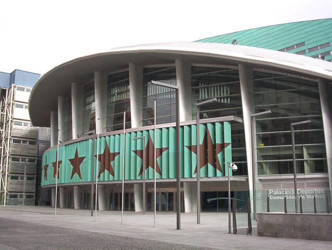 Fachada del Palacio de los Deportes de la Comunidad de Madrid.