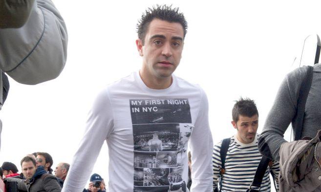 El jugador del FC. Barcelona, Xavi Hernández, durante un partido de...