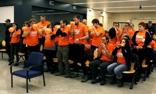 Los miembros de Segi durante el juicio ante la Audiencia Nacional.