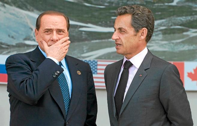 Silvio Berlusconi y Nicolas Sarkozy, durante una reunión en 2011.