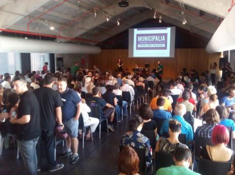 Primera reunión de Municipalia, el sábado pasado en Medialab Prado