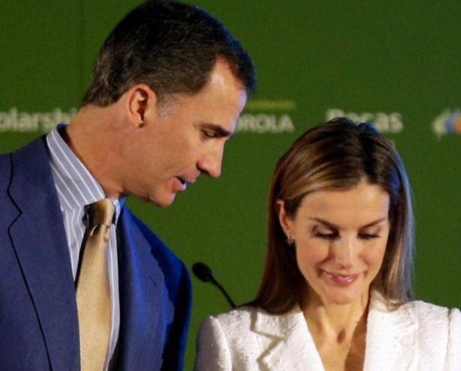 Los reyes, ayer en Madrid, en el acto de la Fundación Iberdrola.