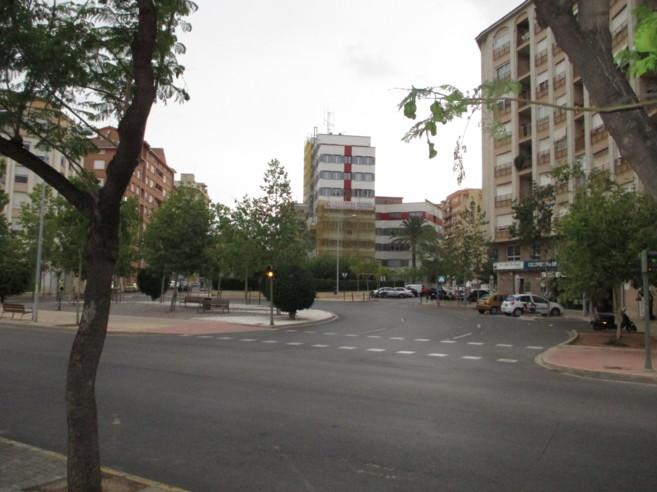 Emplazamiento que se denominará plaza de la Cruz Roja en Castellón.