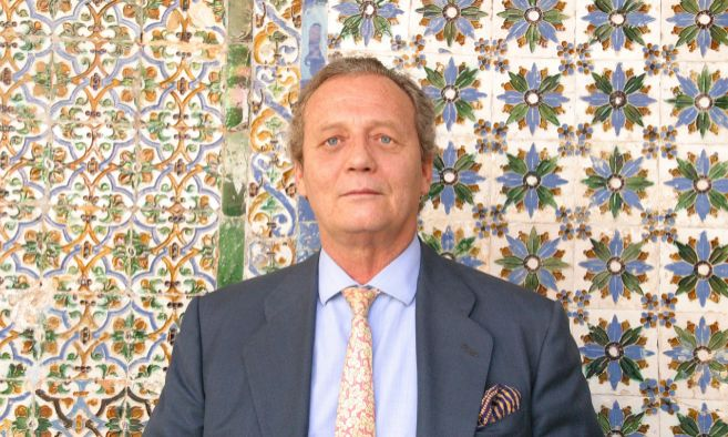 El nuevo duque de Medinaceli posa en la casa palacio de Pilatos, en...