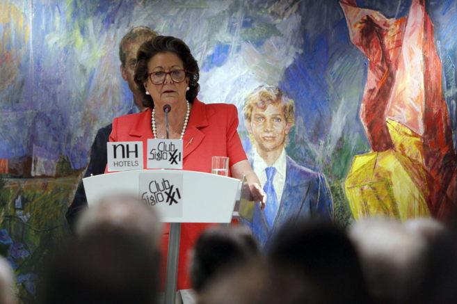 Rita Barberá, en el Club sigllo XXI de Madrid.