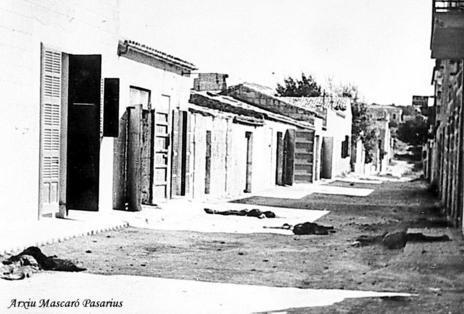 Fusilados en la Guerra Civil en una calle de Porto Cristo.