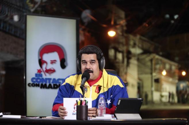 El presidente venezolano, Nicolás Maduro, en  su programa de radio...