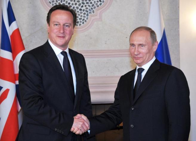 David Cameron y Vladimir Putin en una cumbre del G20.