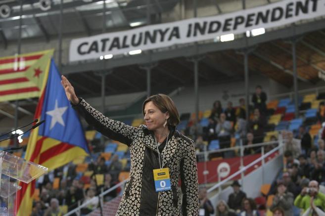 La presidenta de la ANC, Carme Forcadell, en un acto en Tarragona.