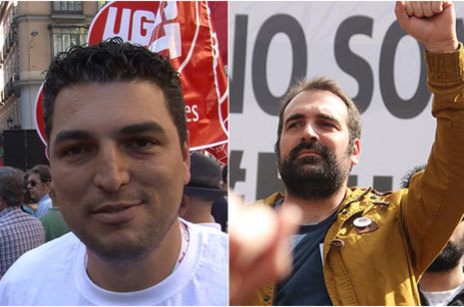 Raúl Fernández y Enrique Gil, delegados de UGT y CCOO en Airbus...